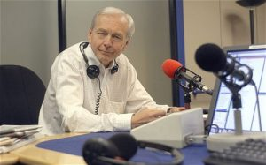 "*******HI RES******John Humphrys in the Today studio...John Humphrys (next to studio microphones), one of the presenters of the Today radio programme (the news and current affairs programme), which is broadcast on BBC Radio 4 (BBC Radio Four) each weekday morning 6-9am and on saturday""s 7-9am.'; Humphrys, John - BBC News Journalist / Presenter of the Today programme on BBC Radio Four"